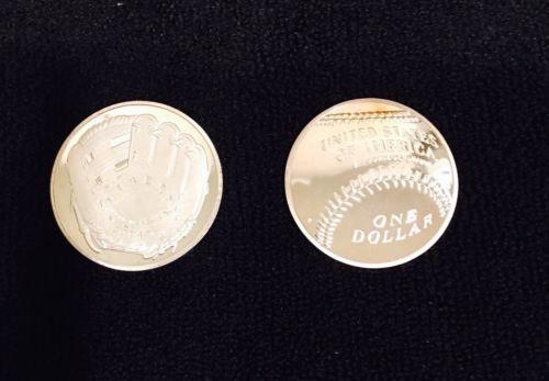2014 Baseball Hall of Fame ~ Silver ONE DOLLAR ~ Clad bar ~ Flat Coin