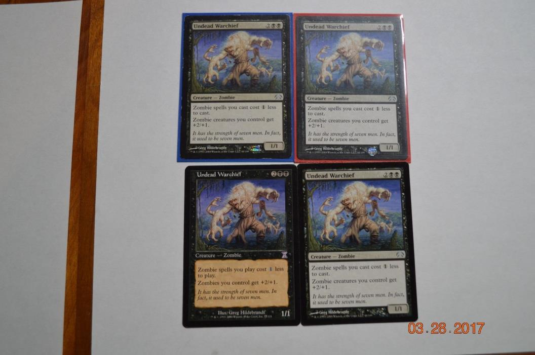 Undead Warchief x4   MTG Magic the Gathering