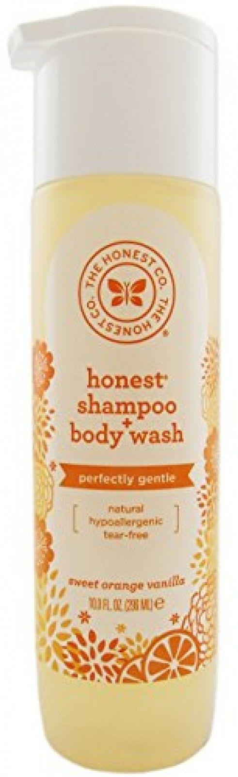The Honest Company Shampoo and Body Wash, Sweet Orange Vanilla, 10 OZ 6 PACK