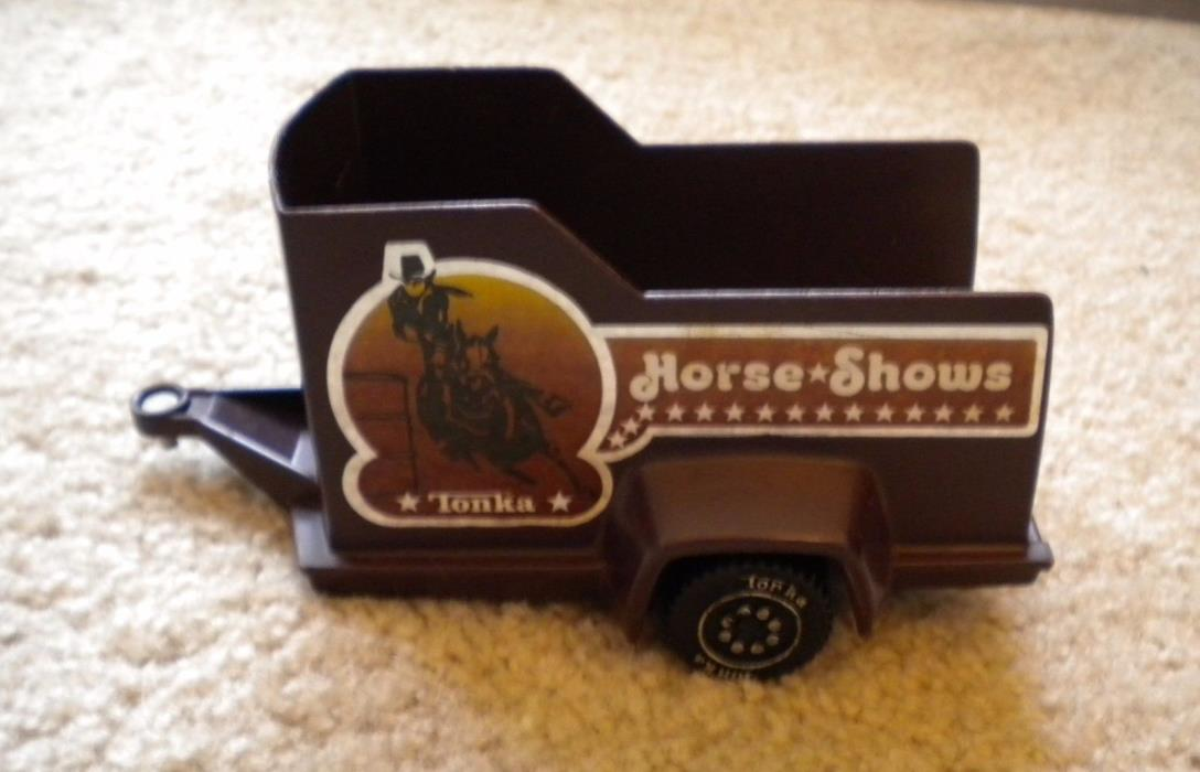 Vintage Tonka Horse Shows Trailer 1979 brown plastic toy