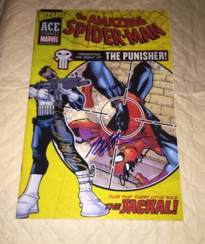 amazing spiderman 129 1st Appearance Of Punisher  Signed 4 Times John Romita Sr