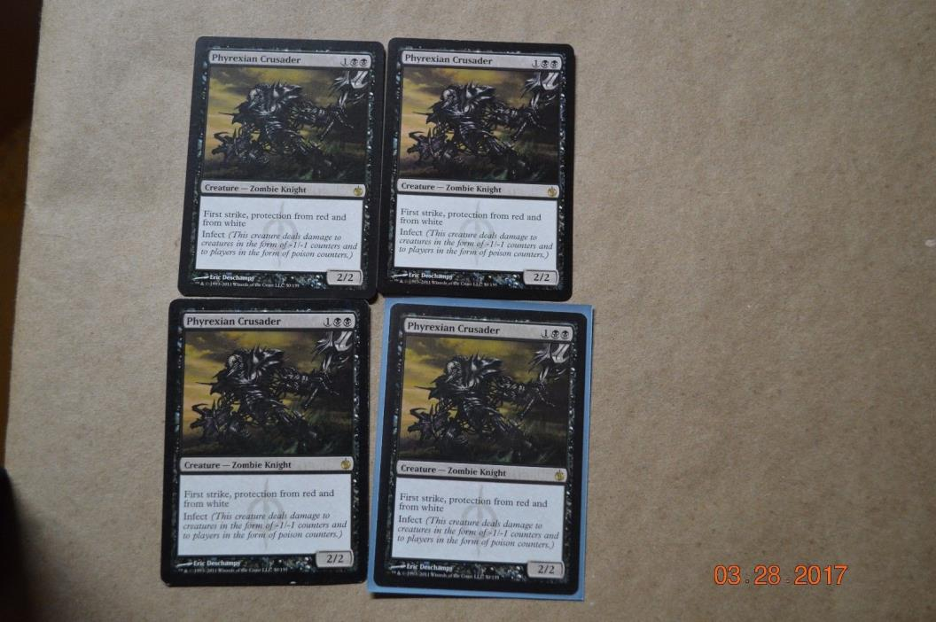 Phyrexian Crusader x4    MTG Magic the Gathering