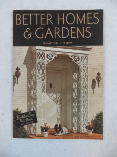 BETTER HOMES & GARDENS January 1937 Vol. 15 No. 5