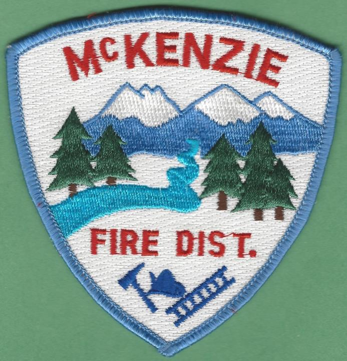 MACKENZIE OREGON FIRE DISTRICT PATCH