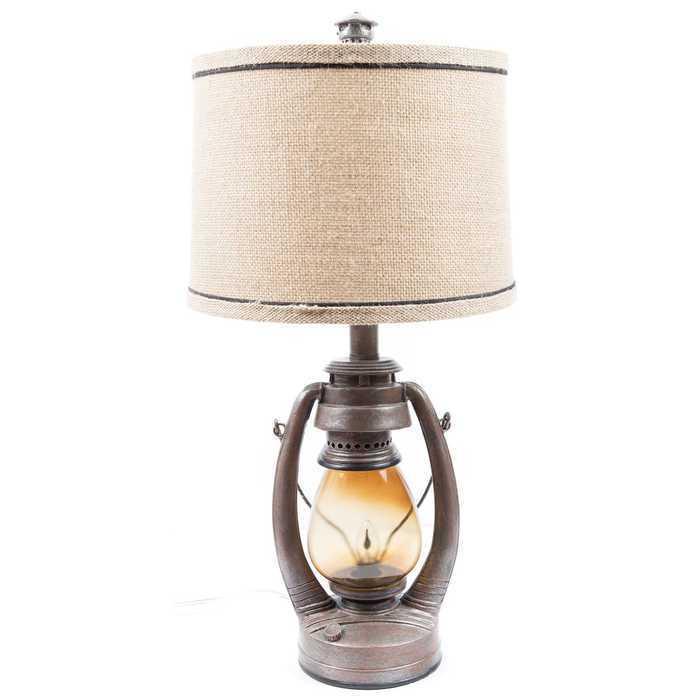 Western Lantern Desk Lamp  COUNTRY WESTERN DECOR