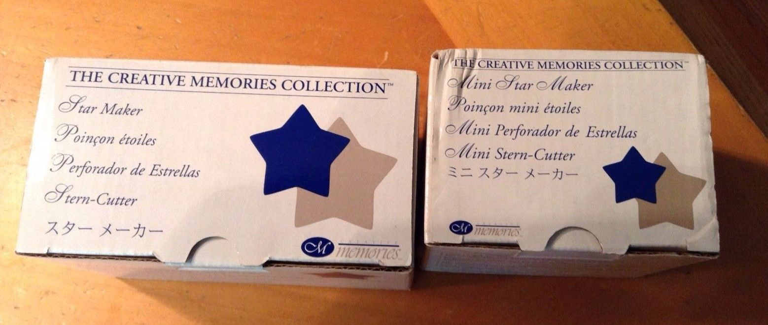 Creative Memories Large and Small Star Shape Makers NIB