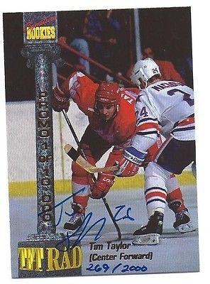 1994 Signature Rookies Tetrad Promo Hockey Autograph Tim Taylor 236/2000 I2