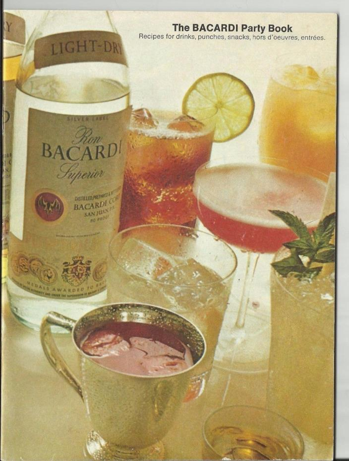 Bacardi Party Book - vintage recipe booklet