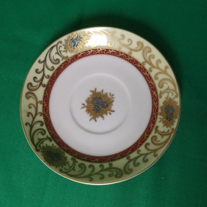 ELEGANT GILDED DEMITASSE SAUCER BY WAKO CHINA IN OCCUPIED JAPAN