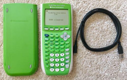 Texas Instruments Ti-84 Plus Silver Edition Graphing Calculator Unique GREEN!!