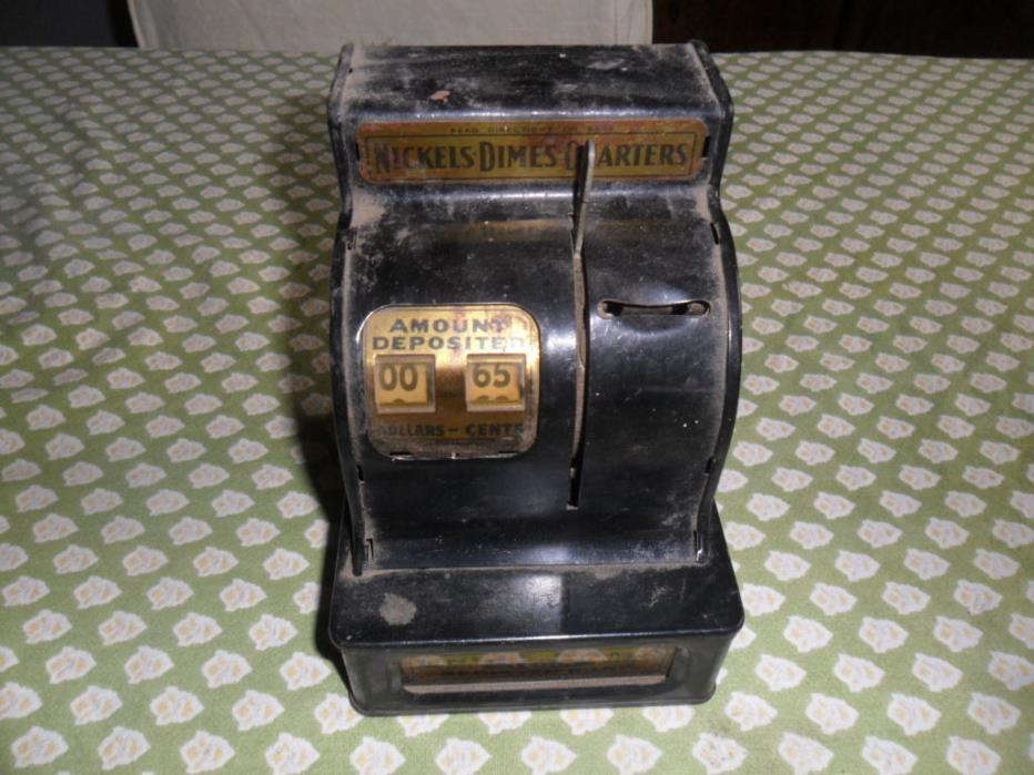 Tin Money Box Uncle Sams Register Bank