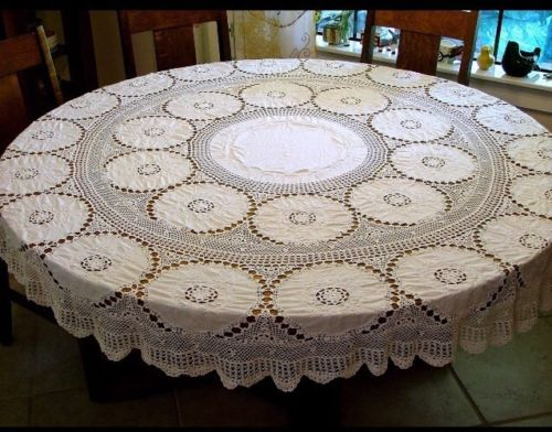 crochet tablecloth round