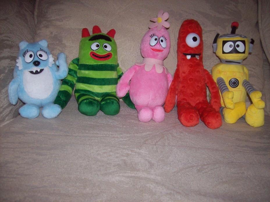 Ty Beanie Babies Yo Gabba Gabba All 5 Plush Toys Plex Muno Foofa Toodee Brobee