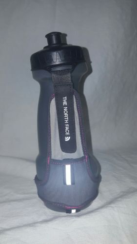 North Face Flight Series Hydration Bottle and Holder EUC Gray and Black