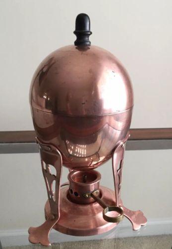 Art Deco , Antique , Jos.Heinriches Egg Coddler - Pure Copper , Simple Beauty
