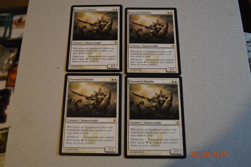 Puresteel Paladin x4  MTG Magic the Gathering