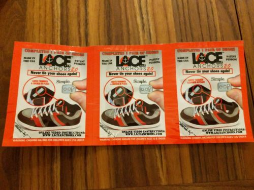 No Tie Shoelace Locks - Lace Anchors 2.0 - Never Tie Your Shoes New
