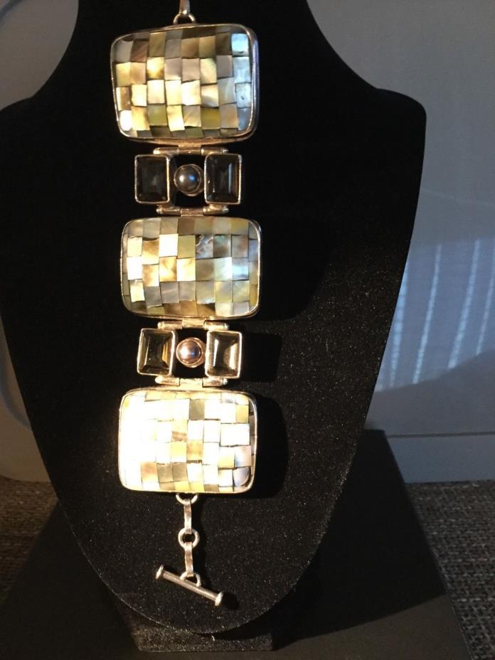 Women's Bracelet,Silver,Topaz,pearl