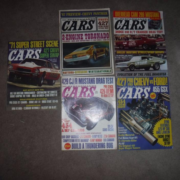 Hi Performance Car Magazines  5 magazines
