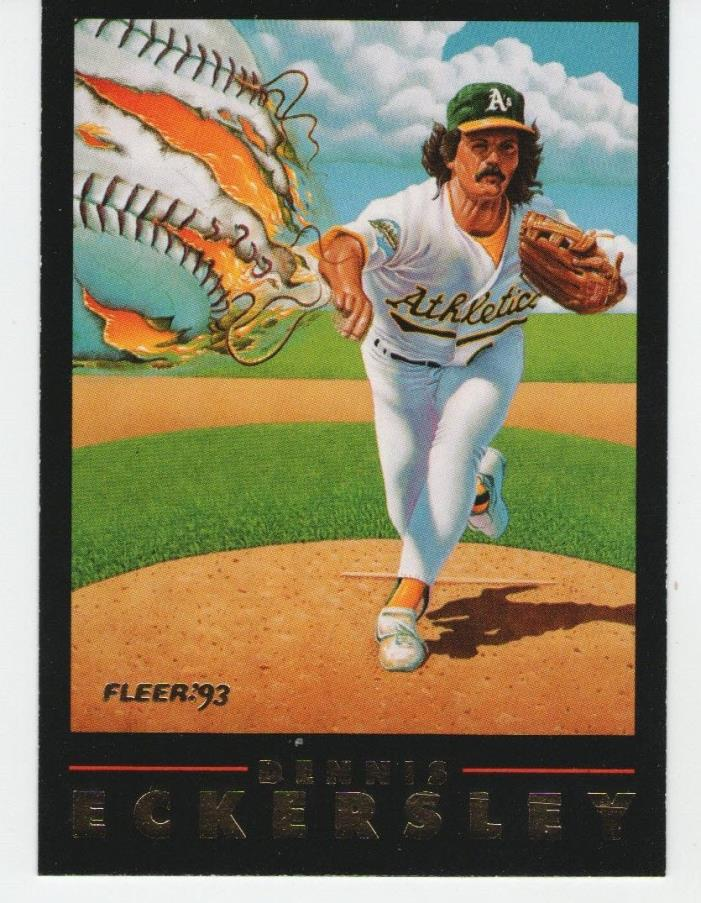Dennis Eckersley 1993 Fleer Card #2 of 3 Oakland A's