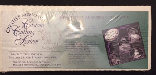 Creative Memories Custom Cutting System 12-inch Pattern Straight Wavy Swell NEW!