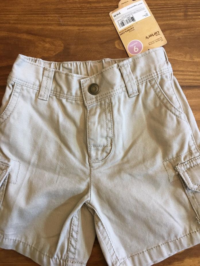 NWT Baby Boy Carters Brand Cargo Shorts Size 9 months