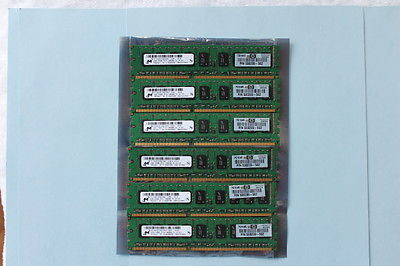 12GB Used MICRON (6x 2GB) PC3-10600E RAM ECC DDR3 Server Memory HP 500209-562