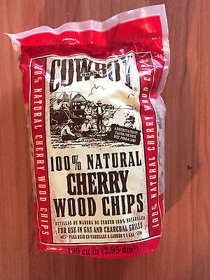 Cowboy  Cherry Wood Chips-180 cubic inch  NEW