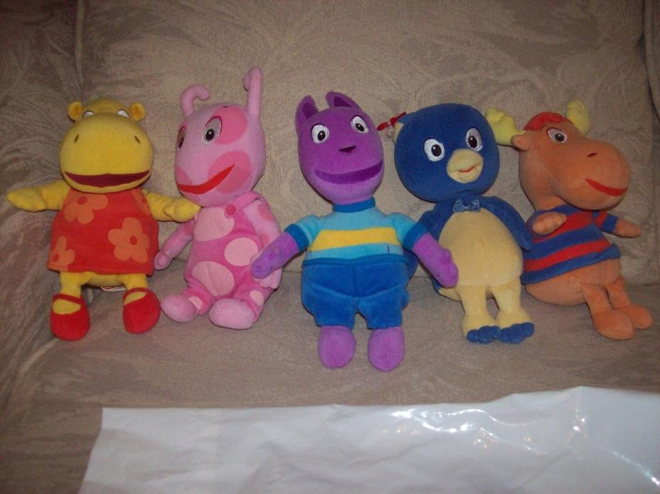 Rare Backyardigans Beanie Babies  Great Condition Entire Set of 5