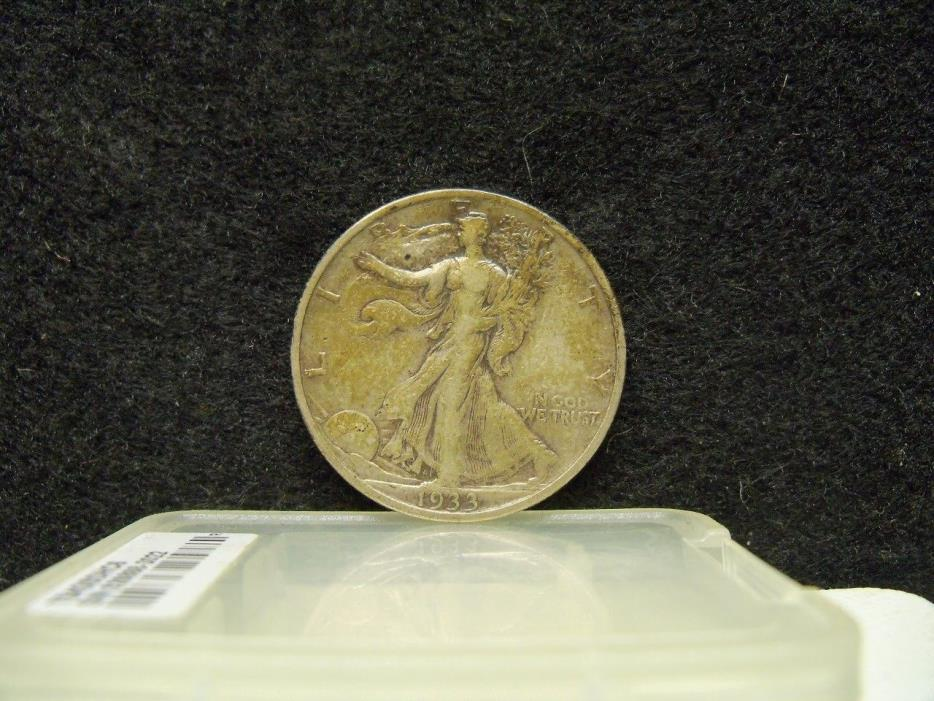 * 1933-S WALKING LIBERTY SILVER HALF DOLLAR