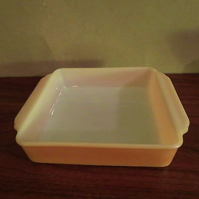 Fire King 8 inch Square Peach Lustre Glass Pan 452