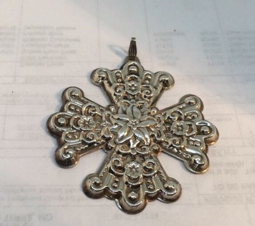 1974 Reed And Barton Sterling Silver Snowflake Pendant Or Ornament