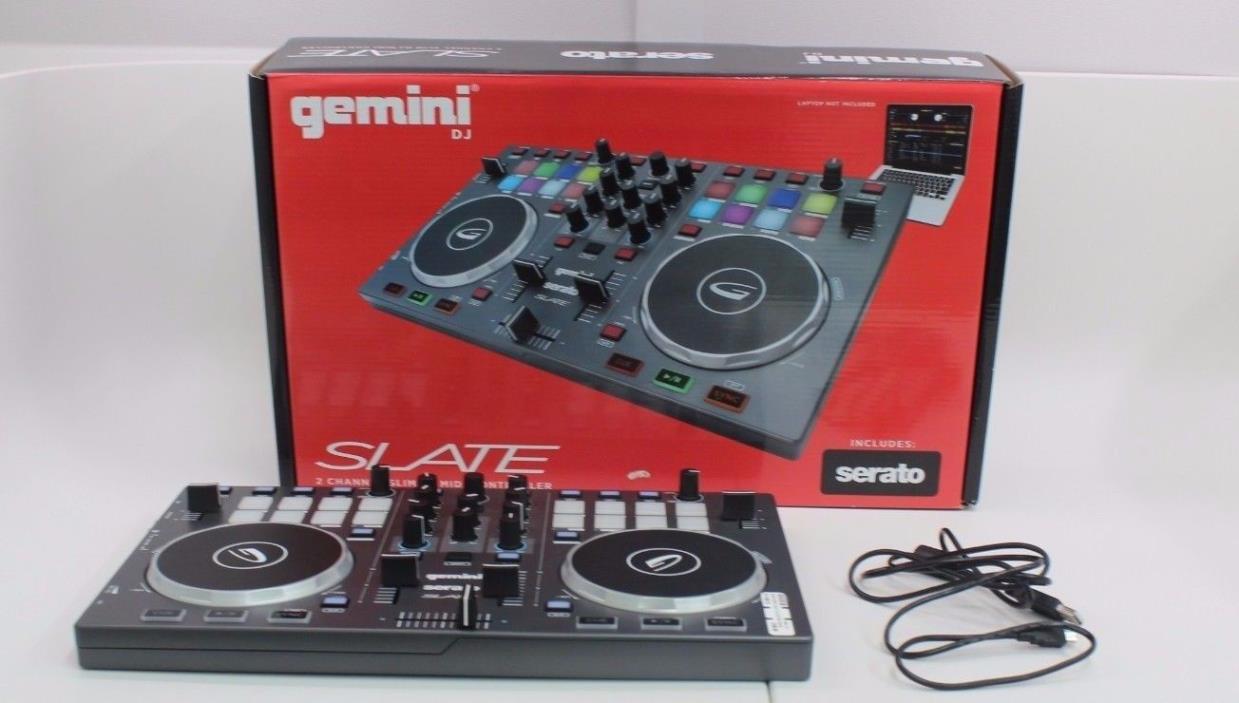 GEMINI SERATO SLATE 2-CHANNEL SLIM DJ MINI CONTROLLER IN BOX