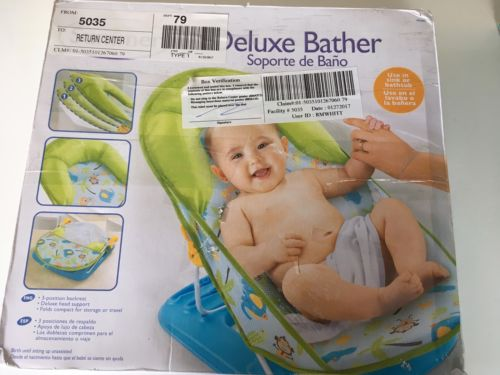 EUC Summer Deluxe Bather Baby Up To Use In Sink Or Tub 170321