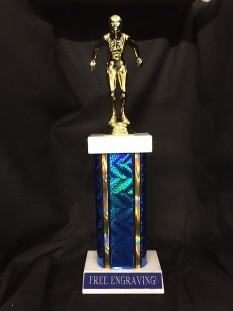 SWIMMER TROPHY FEMALE, FREE ENGRAVING, 13 INCHES TALL
