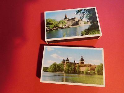 2 BOXES OF SOUVENIR MATCHES GRIPSHOLMS SLOTT & VADSTENA SLOTT