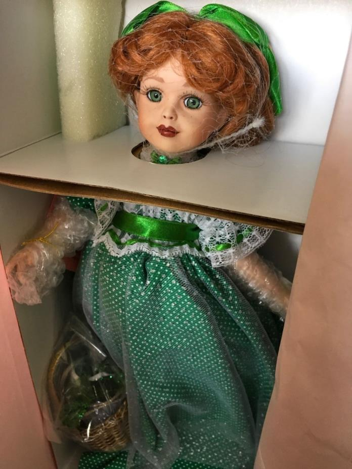 Treasury collection paradise galleries shannons lucky shamrock porcelain doll