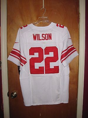 NWT Authentic Nike NFL Giants Away Game White Football Jersey #22 Wilson Size 44