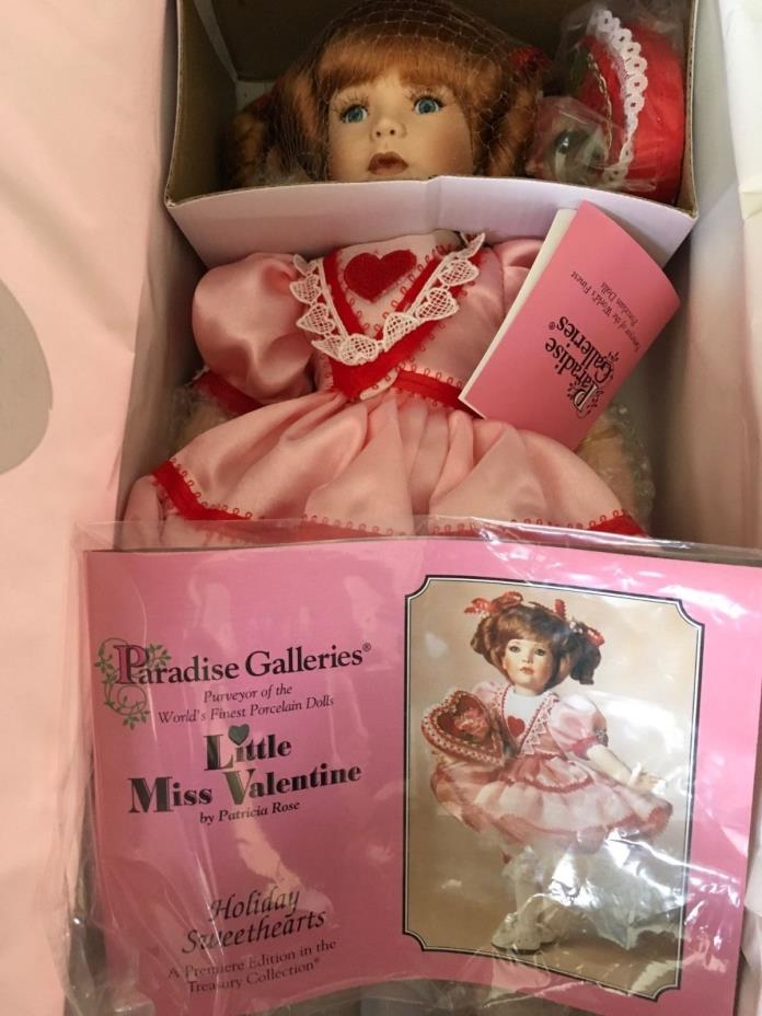 Treasury collection paradise galleries little miss valentine porcelain doll
