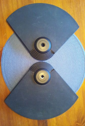 TWO ALESIS DM5 ELECTRONIC CRASH/RIDE CYMBALS