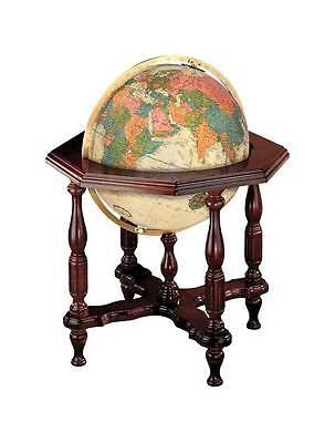 Statesman 20 Inch Antique Style Floor Globe w Illumination [ID 25550]