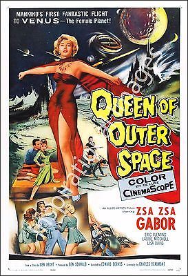 Queen Of Outer Space Movie Poster Print - 1958 - Sci-Fi - 1 Sheet Artwork