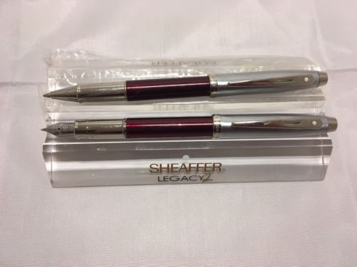 Sheaffer 100 Red Fountain Pen and Rollerball Set M