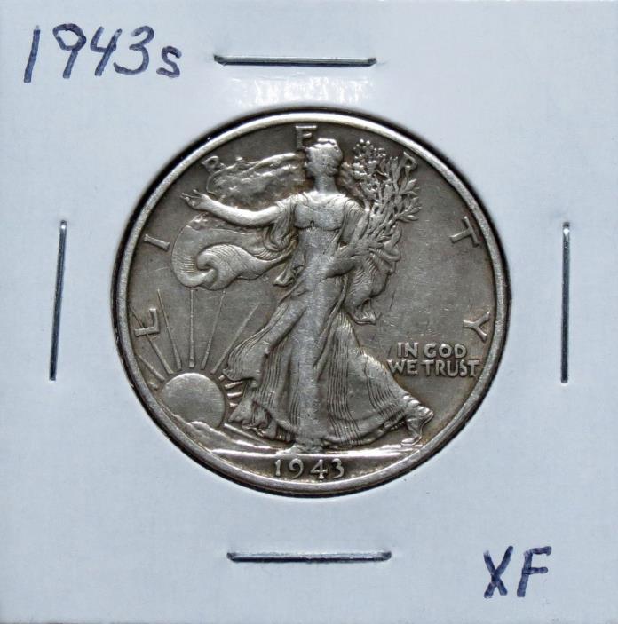 1943S XF Problem Free Walking Liberty Half Dollar 7F12NGA
