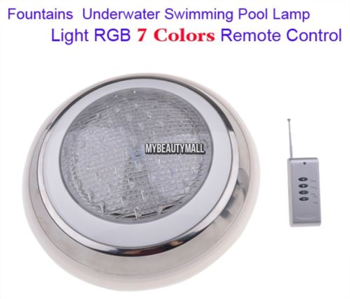 Led Swimming Pool Light RGB Multi-color 12V Fountains Lamp Underwater Bright