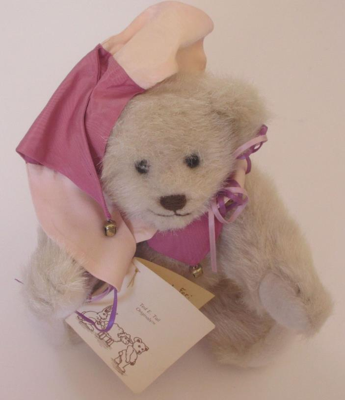Collectable Ted E. Tail Jester 11 inch cream Cherie's Bear Essentials VERY RARE