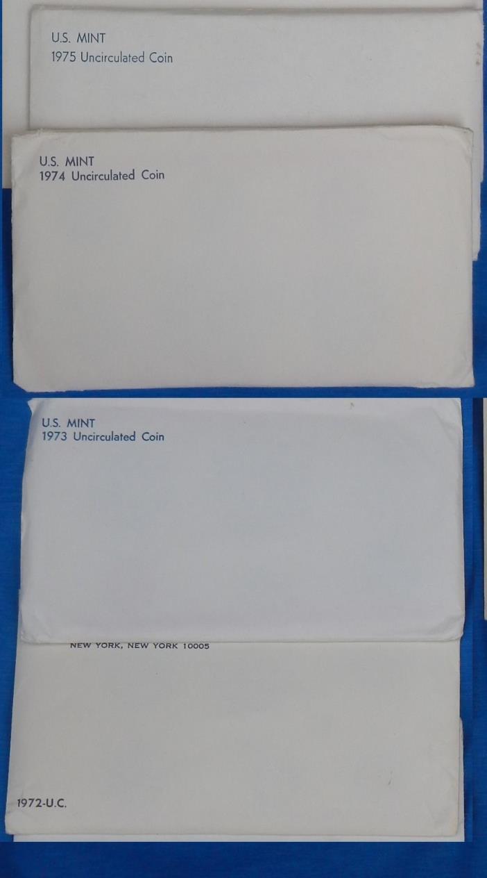 4 BU Mint set sets [ 1972 1973 1974 1975 ] lot