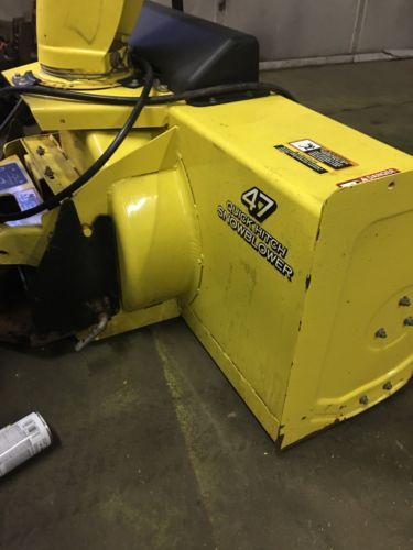 JOHN DEERE 47 INCH 2 STAGE SNOWBLOWER OFF OF A JOHN DEERE 425,445,455