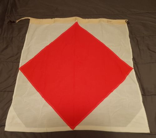 Vintage Navy Nautical SIGNAL FLAG 36