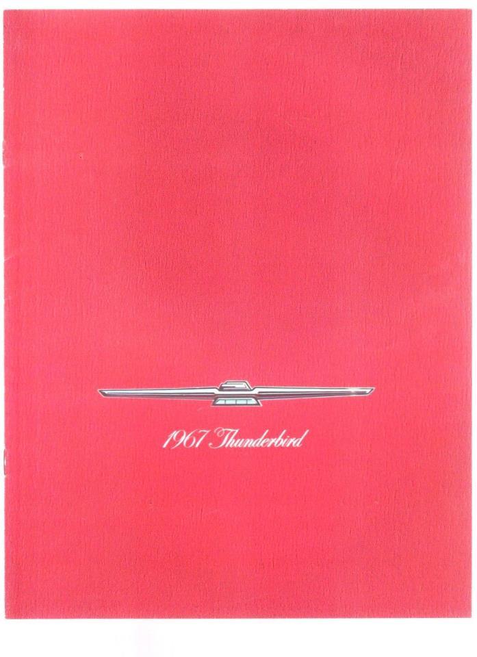 1967 FORD THUNDERBIRD ORIGINAL SALES BROCHURE